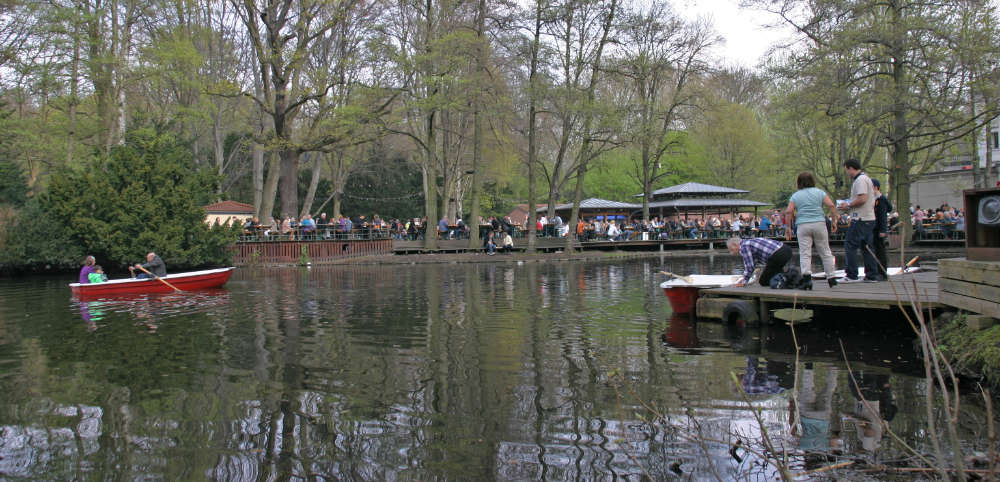 Bootsverleih am neuen See  im Tiergarten