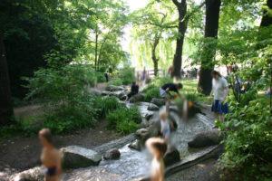 Foto Bachlauf Volkspark Friedrichshain