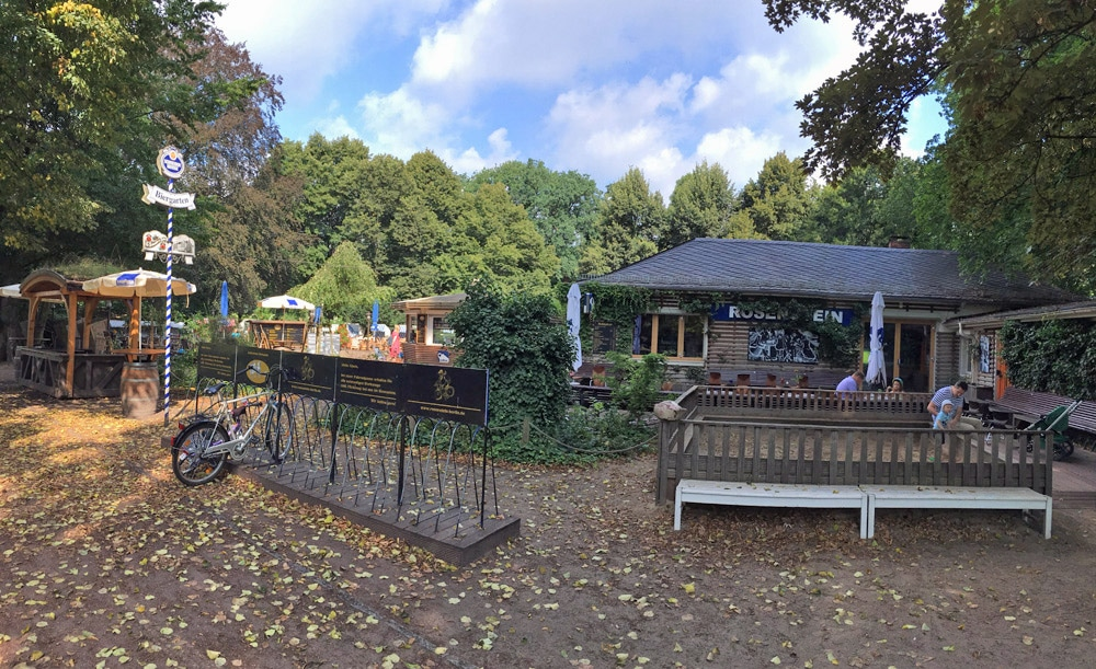Biergarten Rosenstein im Bürgerpark in Pankow