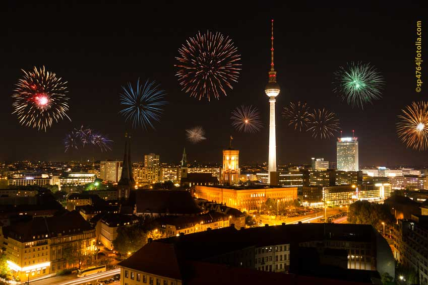 Feuerwerke in Berlin