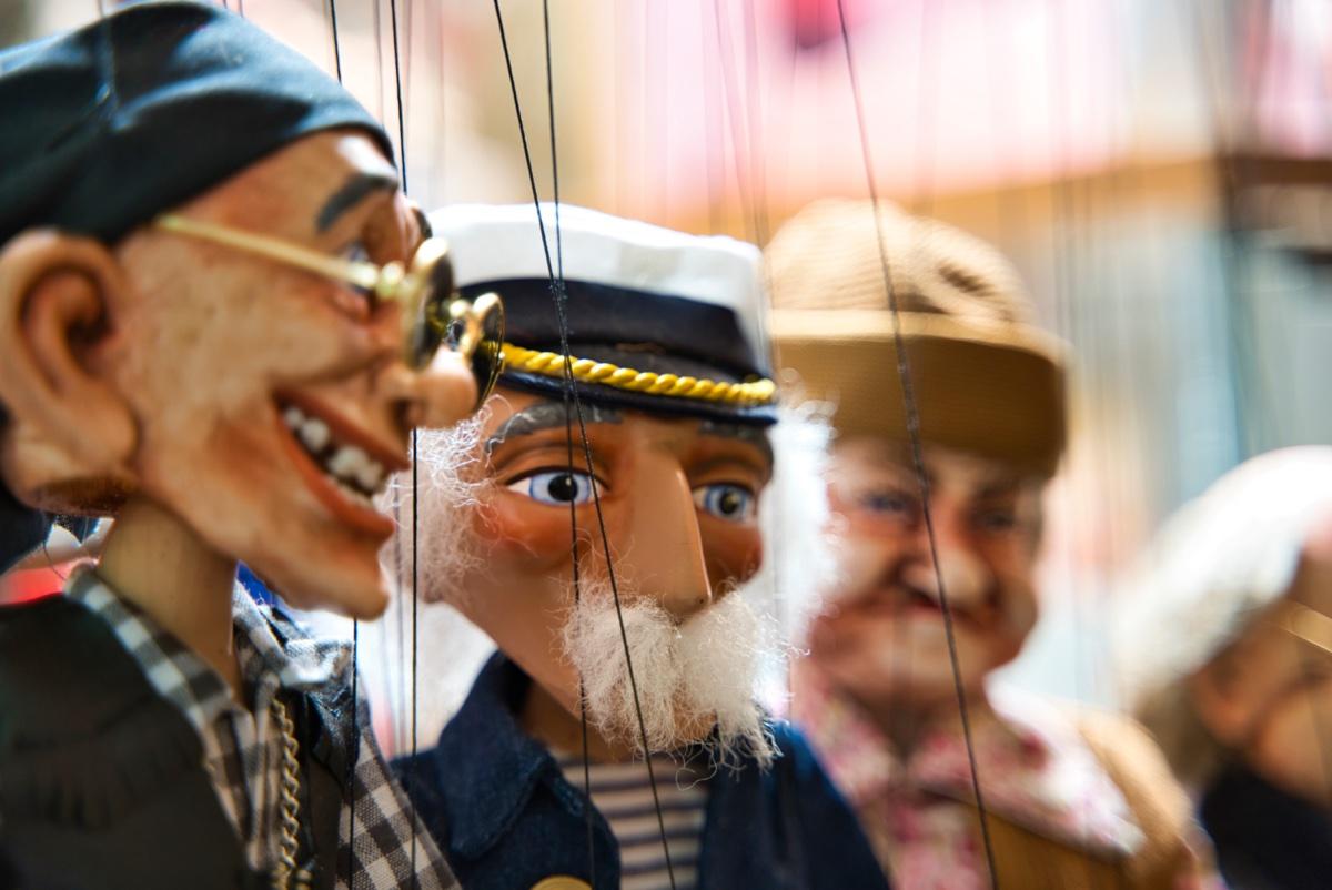 Bild-Marionetten-Puppentheater