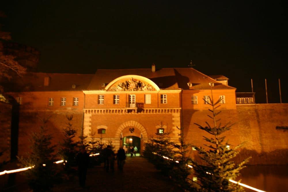 Bild Zitadelle Spandau bei Nacht