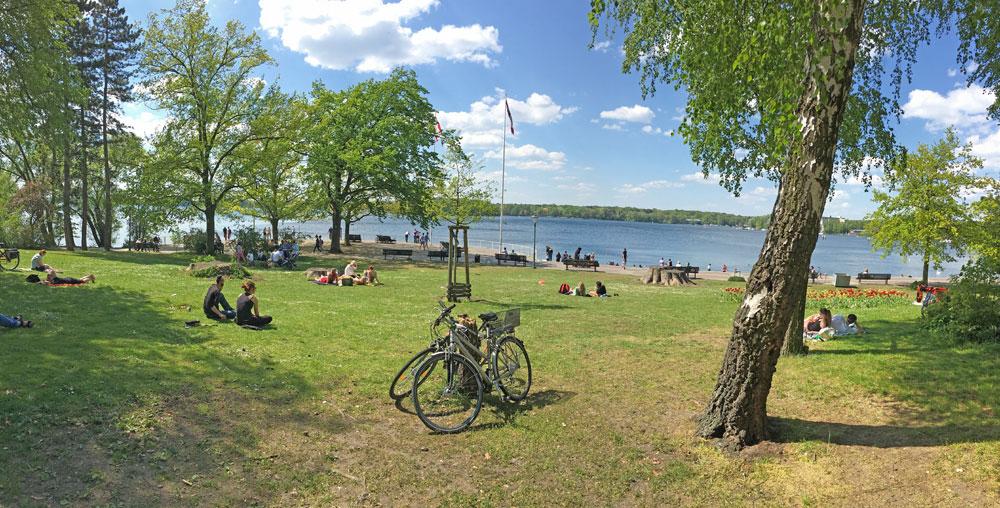 Fahrradtour Von S-Bahn Jungfernheide rund um den Tegler See