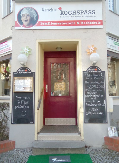 Bild Kinderkochspass Kinderkochschule Familienrestaurant Berlin