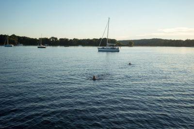 Bild Baden vom Boot Wannsee Schipper