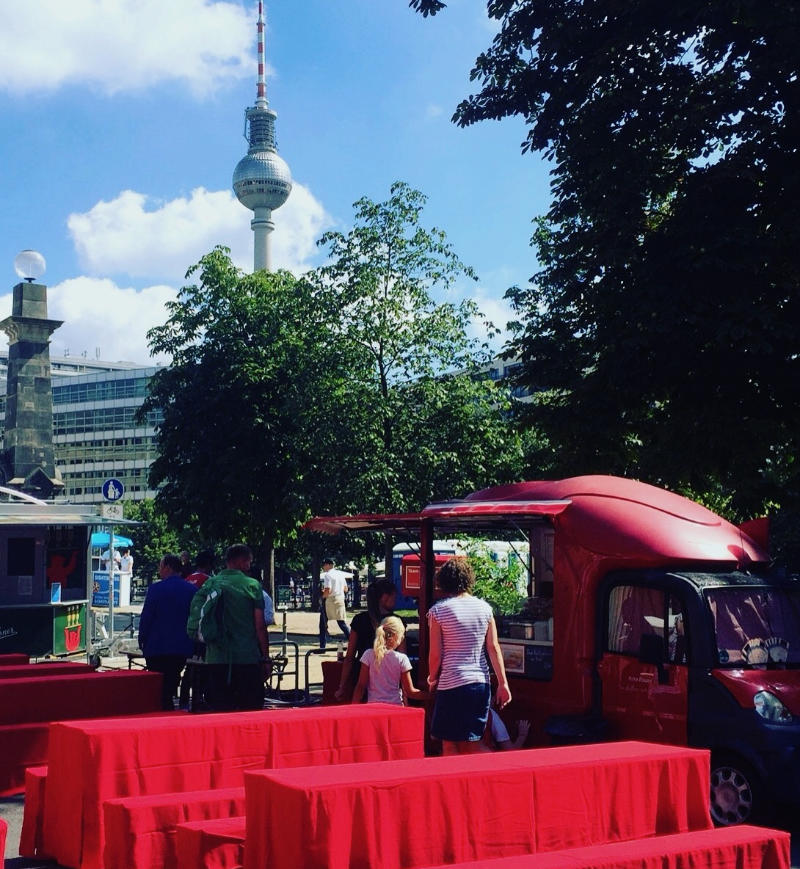 Bild Rote Pause Food Truck im Einsatz