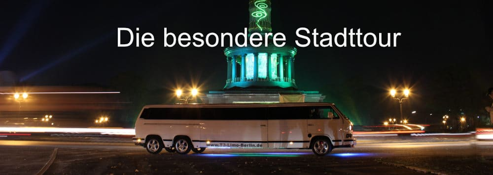 Party Stadtrundfahrt in riesiger VW T3 Bulli Stretchlimousine
