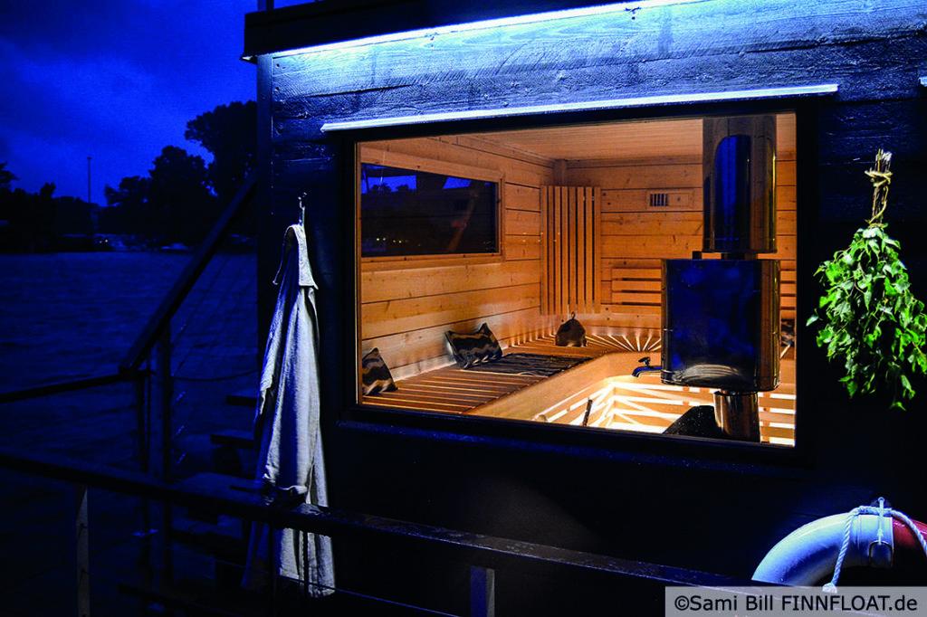 Saunafloß finnfloat am Müggelsee
