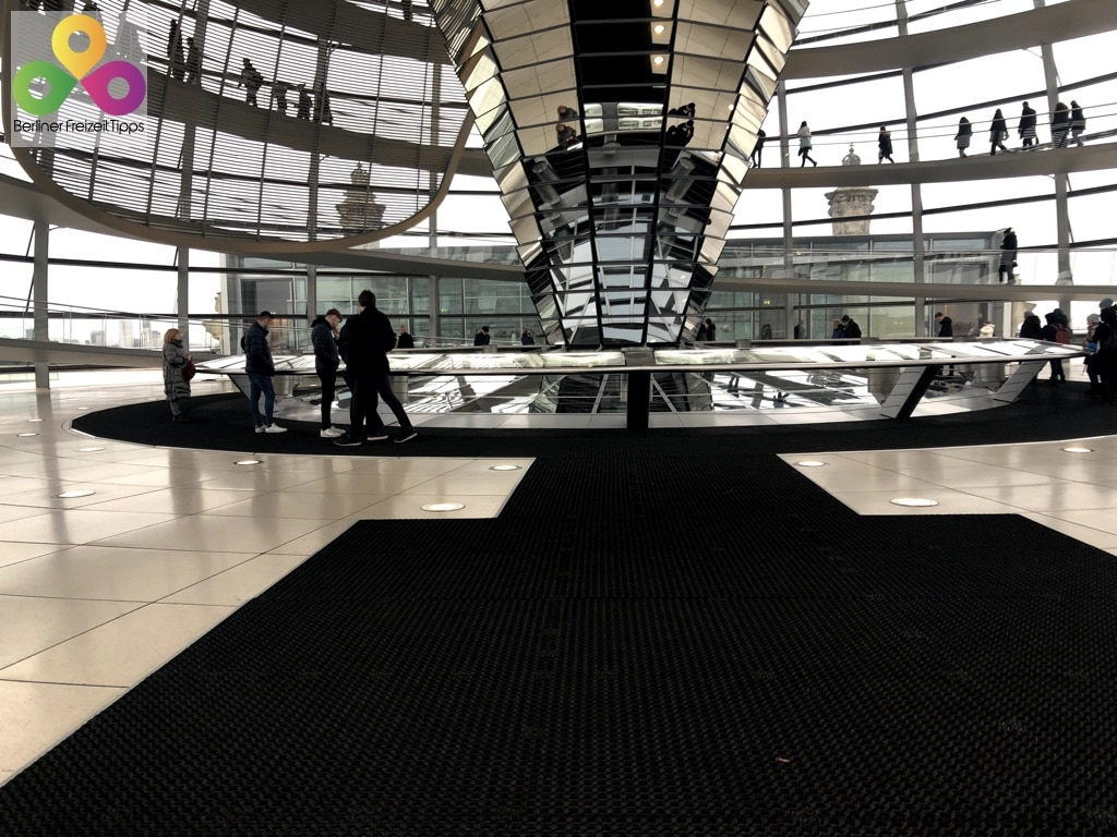 Bild betreten der Reichstagskuppel