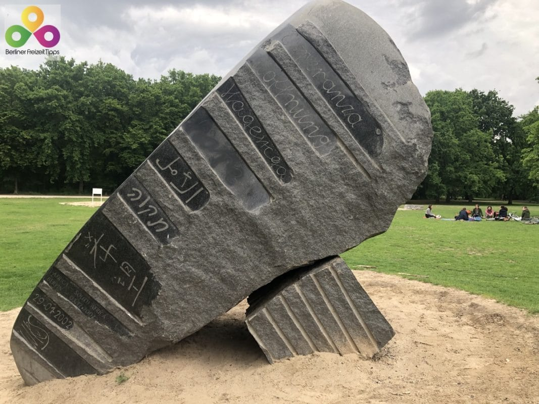 Stein Hoffnung Global Stone Project Tiergarten