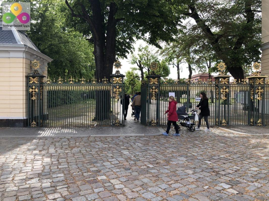 Bild Eingang Orangerie Schloss Charlottenburg