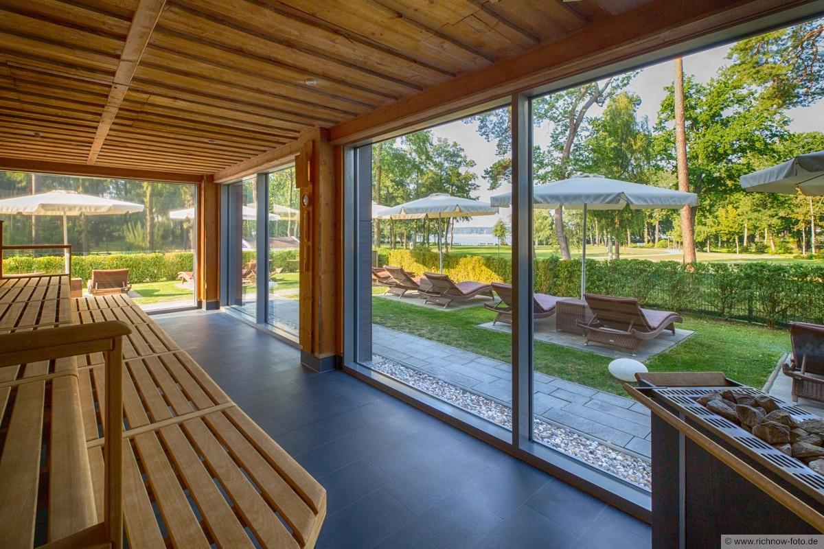 Blick Panorama Sauna